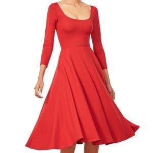 Reformation Lou Midi Tea Style Swing Dress